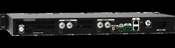 ZeeVee HDbridge 2920 HD-SDI 2-Channel Broadcast Quality Digital Encoder - 1080p - rear connections