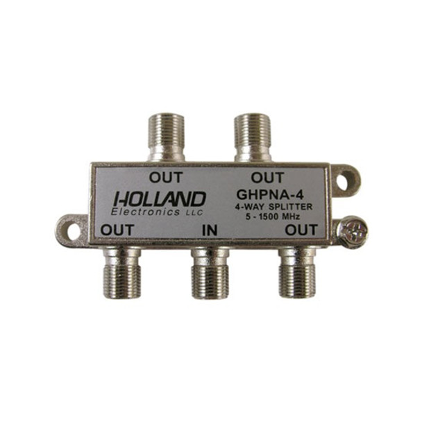 Holland Electronics GHPNA-4 IPTV Broadband Coaxial Splitter - AT&T U-Verse approved