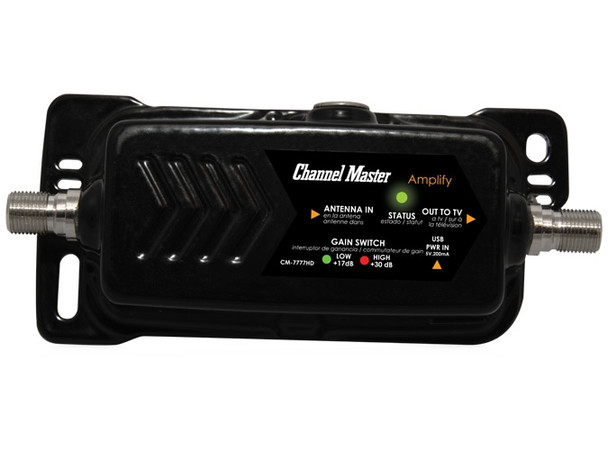 CM-7777HD Channel Master Amplify Adjustable Gain HDTV Preamplifier off-air antenna ota amplifier