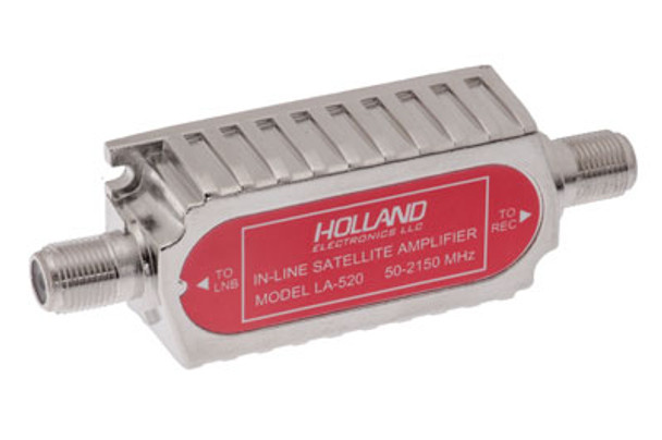 Holland Electronics LA-520 Line Powered Satellite Amplifier 50-2150MHz with 20dB Gain - DIRECTV Approved