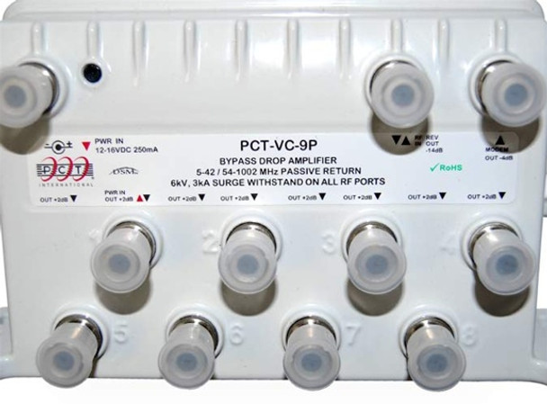 Pct Vc 9p Cable Tv 9 Port Rf Bypass Amplifier With Passive