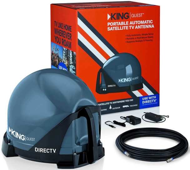 KING Quest VQ4100 Portable Satellite TV Dish for DIRECTV installation kit