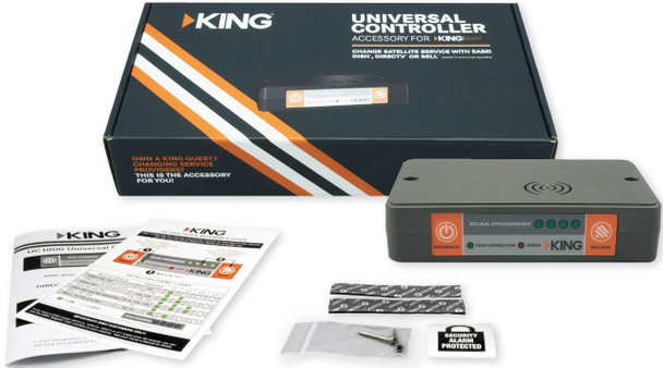 KING UC1000 Universal Controller for KING Quest Portable Satellite Antenna complete package