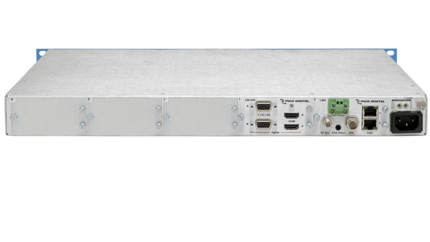 PD1000-2 Pico Digital 2-Channel HD/SD Encoder with QAM and IP Outputs - Rear Connections
