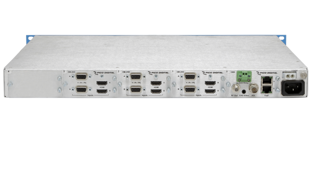 PD1000-6 Pico Digital 6-Channel HD/SD Encoder with QAM and IP Outputs - rear connections