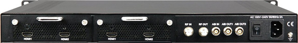 Thor H-2HDMI-QAM-IPLL 2-Channel HDMI to QAM Low Latency Encoder Modulator with IPTV Streaming - rear panel connections