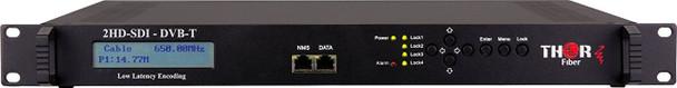 Thor Fiber H-2SDI-DVBT-IPLL 2-Channel HD-SDI to DVB-T Low Latency Encoder Modulator with IPTV - front panel