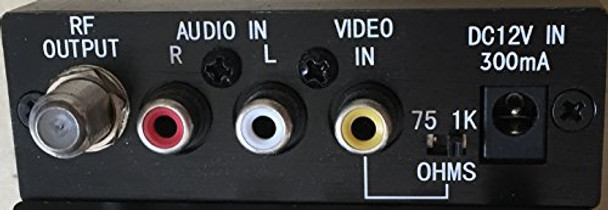 Holland Electronics HMM-10H Agile UHF and CATV Mini Modulator with LED Display - Rear Connections