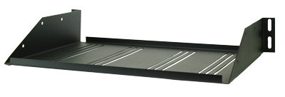Perfect Vision Heavy Duty Vented Rack Shelf Black
