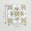 Two Color Hiser Pattern Handmade Tile