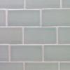 Handmade subway tile with crackle glaze
