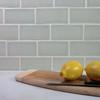 Handmade subway tile backsplash