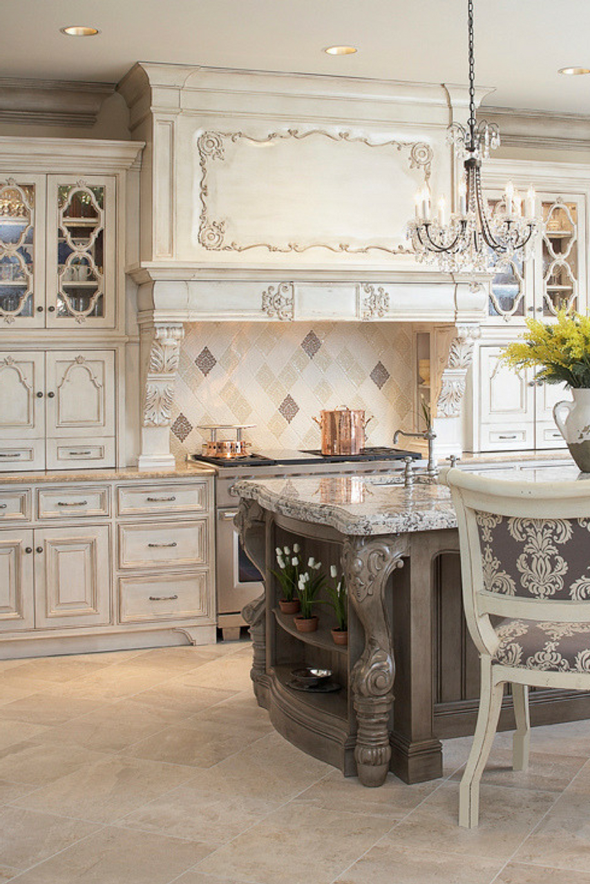 Beautiful Luxury Kitchen With Damask Handmade Tile Julep Tile Company