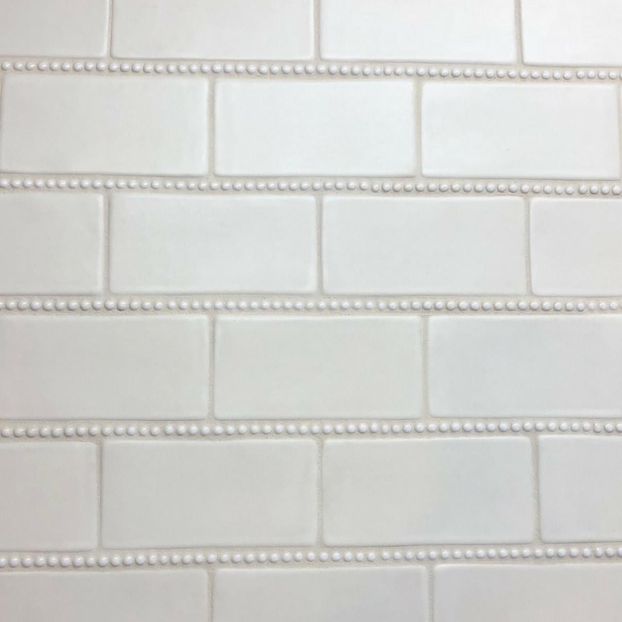 Handmade 3x6 Subway Tile With Pearl Trim Julep Tile Company