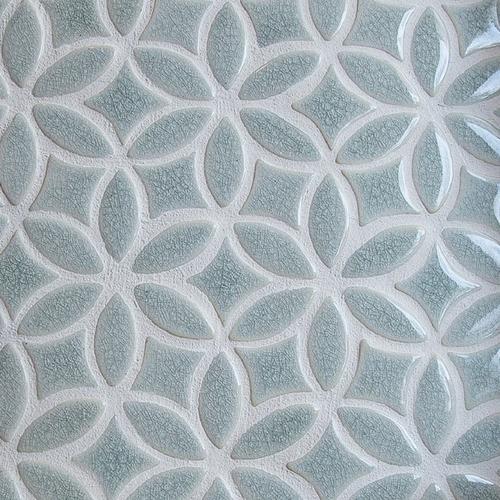 Bloom pattern handmade tile
