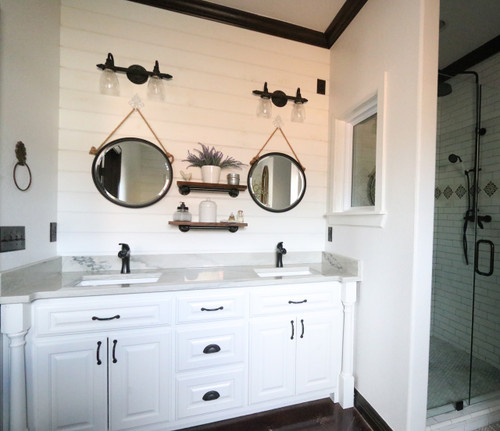 vanity in modern farmhouse bathroom - Modern Farmhouse Bathroom