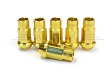 SQUARE Aluminum 7075 Type-2 Lug Nuts M12X1.25 - GOLD