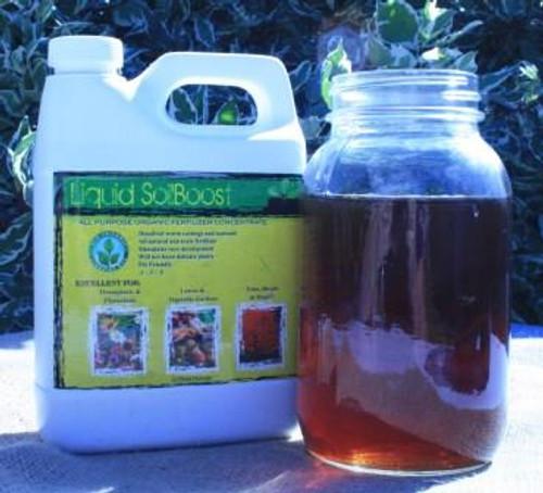 Liquid SoilBoost, Brewed Worm Cast Tea, Quart