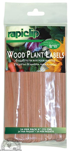 Rapiclip Wood Plant Labels, 24-count Pack