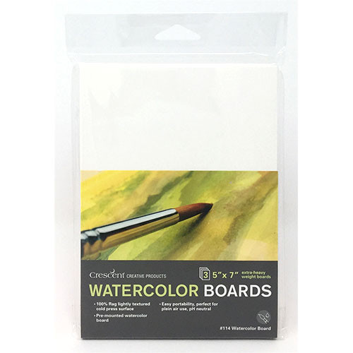 114 Watercolor Board with 100% Rag Surface