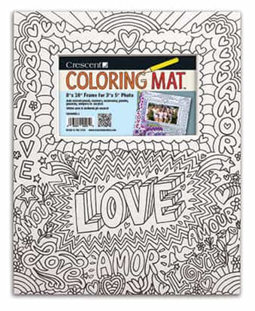 Love Coloring Mat