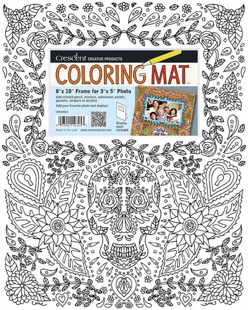 Day of the Dead with Hearts Coloring Mat
