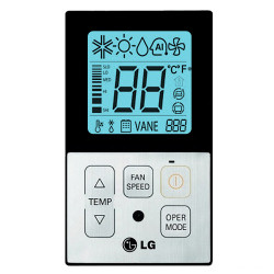 LG Simple Thermostat - Black (PQRCVCL0Q)