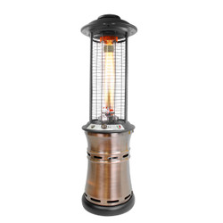 Lava Heat Italia Cylindrical Collapsible 6 Ft. Commercial Flame Patio Heater (LH-107)