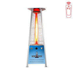 Lava Heat Italia Triangular 6 ft. Commercial Flame LED Patio Heater with Remote (LHI-102)