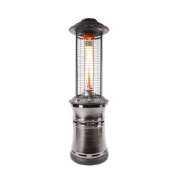 Lava Heat Italia Cylindrical Collopsable 6 ft. Commercial Flame Patio Heater (LHI-108)