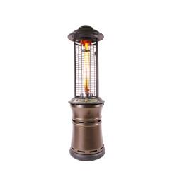 Lava Heat Italia Cylindrical Collopsable 6 ft. Commercial Flame Patio Heater (LHI-109)