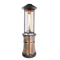 Lava Heat Italia Cylindrical Collopsable 6 ft. Commercial Flame Patio Heater (LHI-110)