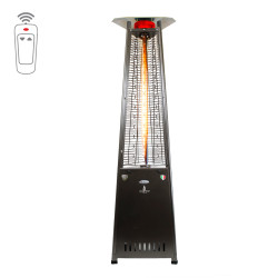 Lava Heat Italia Triangular 8 ft. Commercial Flame Patio Heater with Remote (LHI-128)