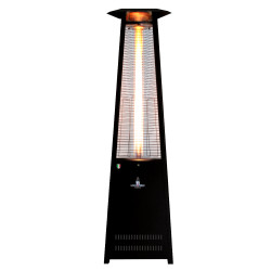 Lava Heat Italia Triangular 8 ft. Commercial Flame Patio Heater Disassembled without Remote (LHI-137)