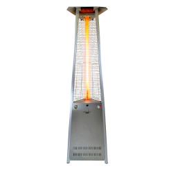 Lava Heat Italia Triangular 8 ft. Commercial Flame Patio Heater Disassembled without Remote (LHI-139)