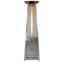 Lava Heat Italia Triangular 8 ft. Commercial Flame Patio Heater Disassembled without Remote (LHI-142)