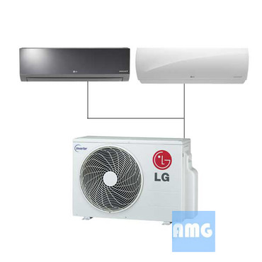 lg mini split dual zone ductless ac units amg. Black Bedroom Furniture Sets. Home Design Ideas