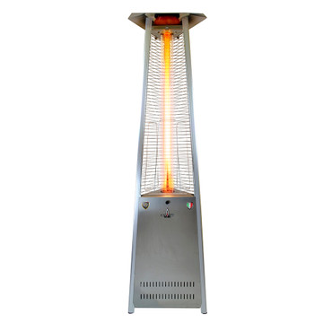 Lava Heat Italia Triangular 8 Ft. Commercial Flame Patio Heater Assembled  Without Remote (LHI