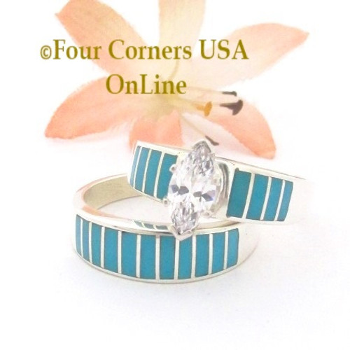 Well-liked Engagement Wedding Ring Sets - Navajo Wedding Rings - Four Corners  HQ23