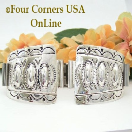 Mens Sterling Watch Navajo Silver Jewelry Four Corners