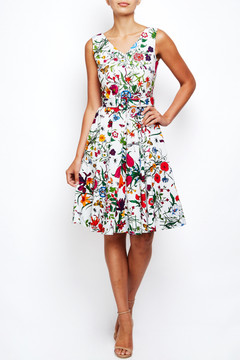 Tiffany Dress in Floral White