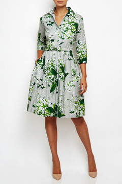 Claire Dress in Lily Gray
