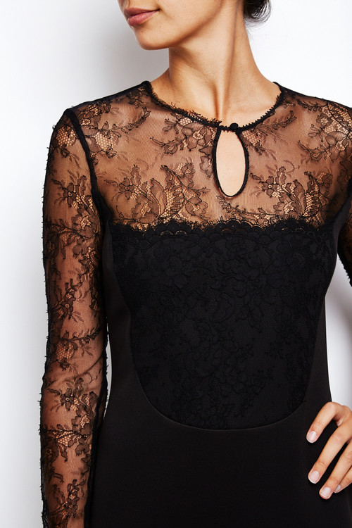 French Lace Sheath Dress