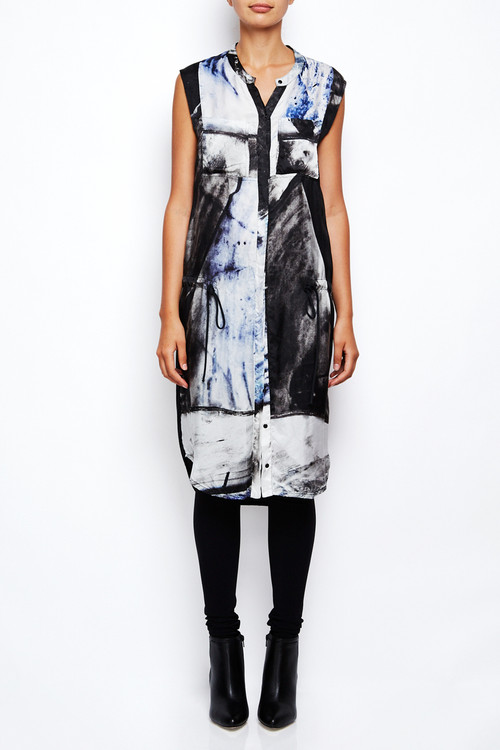 Roque Illaria Nistri Marble Print Tunic Dress