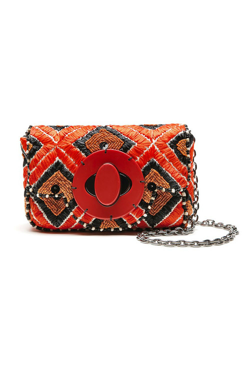 Raffia Small Crossbody