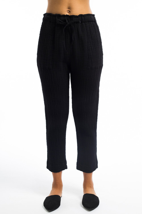 Black Easy Cotton Pant
