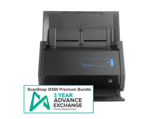 ScanSnap iX500 Premium Bundle with 3-Year Advance Exchange Warranty