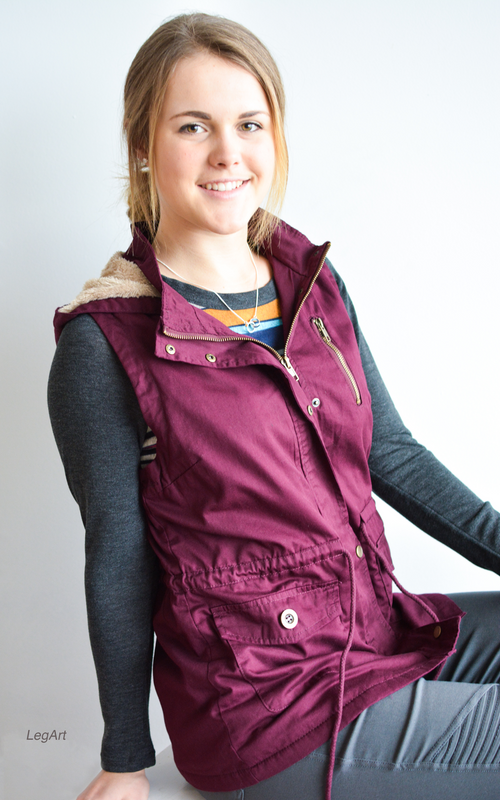 Mulberry Wine Vest