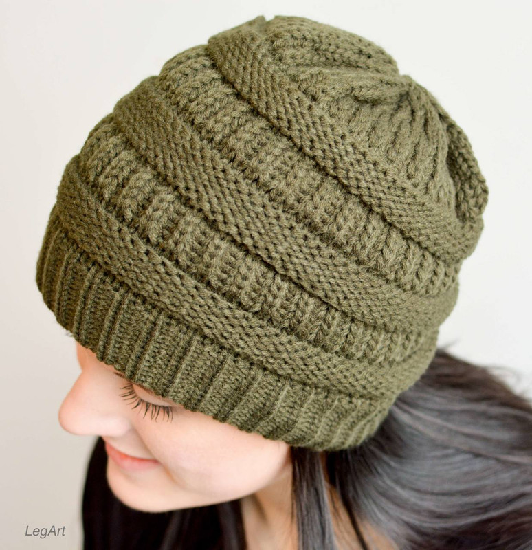 Mad Hatter Beanie- DK Olive