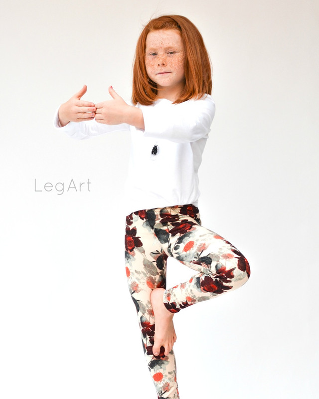 Falling Leaves Children's Leggings